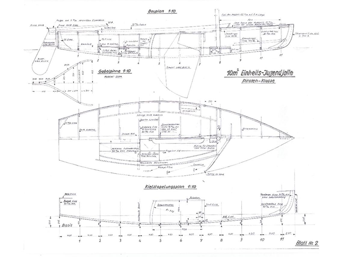 Bauplan einer Piratenjolle